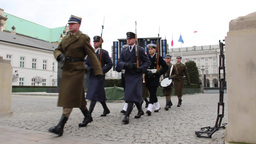 Warsaw, Poland. Presidential Palace Live Action