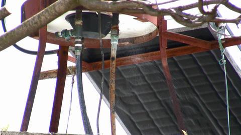 Leaking boiler water pipe Footage