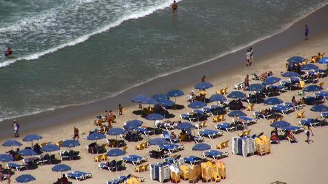 Tel Aviv beach aerial Footage