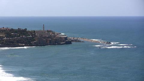 Jaffa Skyline Aerial stock footage