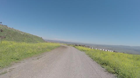 Driving plates along Jordan Of The Mountains trail Footage