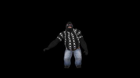 Dancing Gorilla - Solo - 1 - VJ Loop - Alpha Animation