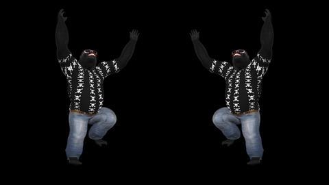Dancing Gorillas - Solo - 3 - VJ Loop - Alpha Animation