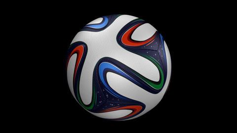 Soccer Ball - Brazuka - Loop - Alpha stock footage