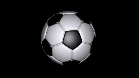 Soccer Ball - Classic - Loop - Alpha Animation