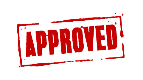 Red Rubber Stamp Approved Animation