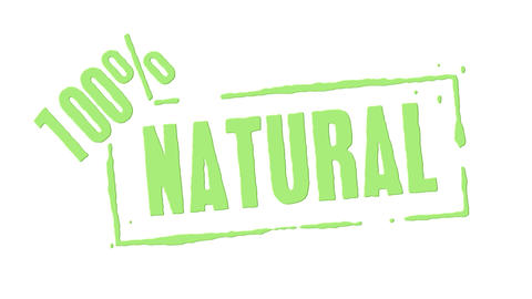 Green Rubber Stamp 100 Percent Natural Animation