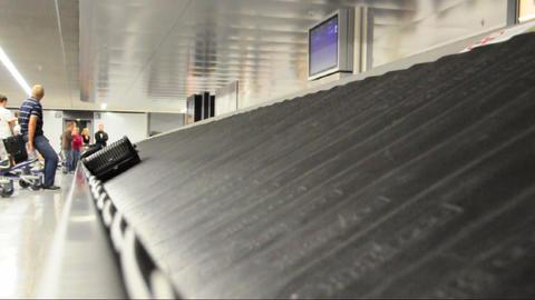 Baggage claim Stock Video Footage