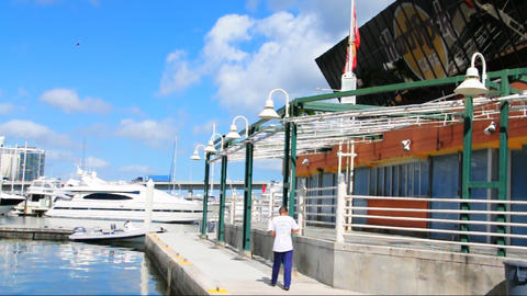 Bayside in Miami Stock Video Footage