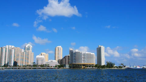 Brickell Island skyline in Miami Footage