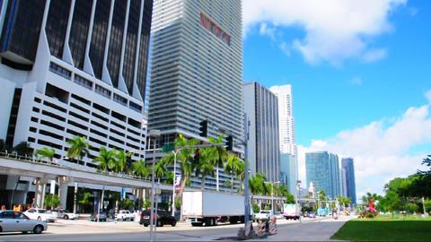 Downtown Miami 2003 Stock Video Footage