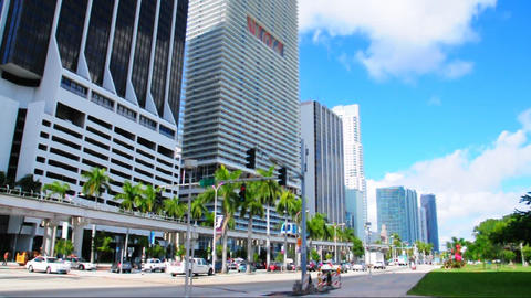 Downtown Miami 2003 Stock Video Footage