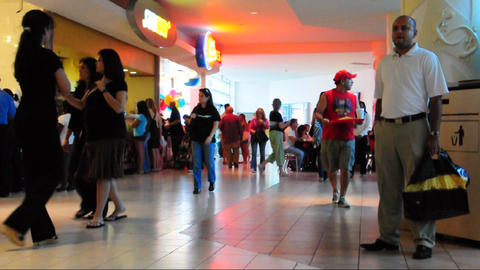 Mall shoppers Stock Video Footage