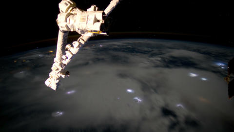 caribbeanstorms iss 20120629 High Res HD Stock Video Footage