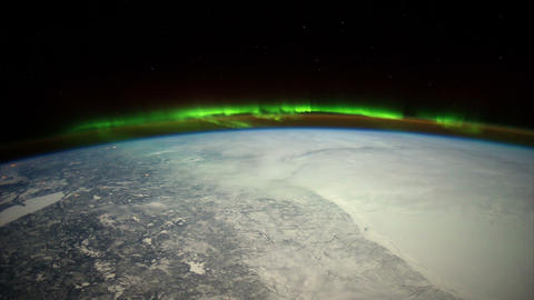 centralusaurora iss 20120207 High Res HD Stock Video Footage