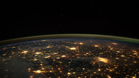 citylights iss 20120131 High Res HD Stock Video Footage