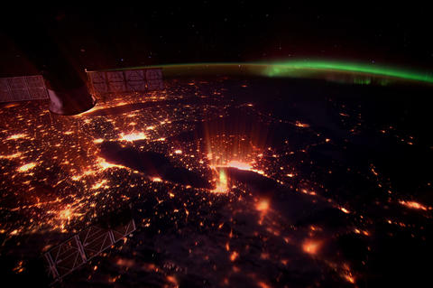 eastus iss 20120412 High Res 4 K Stock Video Footage