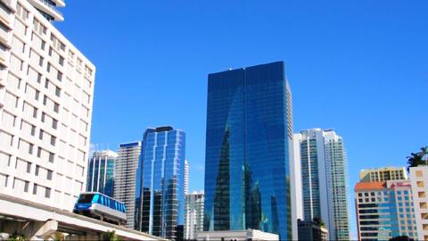 Metromover in Miami Stock Video Footage