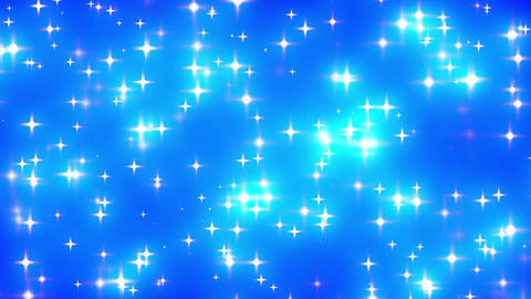 Blue Looping Glowing Stars Background 1 Stock Video Footage
