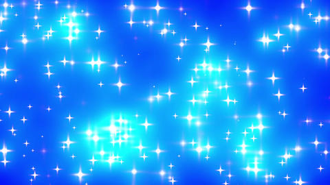 Blue Looping Glowing Stars Background 1 Animation