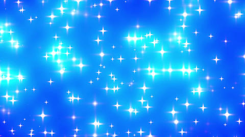 Blue Looping Glowing Stars Background 2 Stock Video Footage