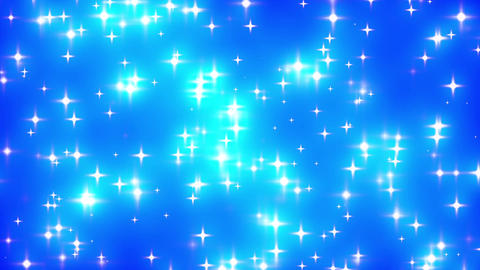 Blue Looping Glowing Stars Background 2 Animation