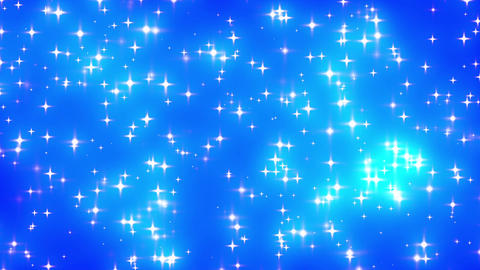 Blue Looping Glowing Stars Background 1 dense Stock Video Footage