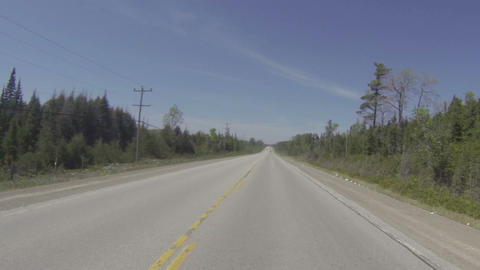 Camera car in Canadian countryside Footage