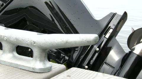 Propeller of boat engine Live Action