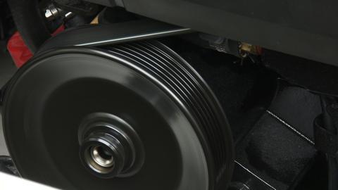 Detail of belt on boat engine Footage