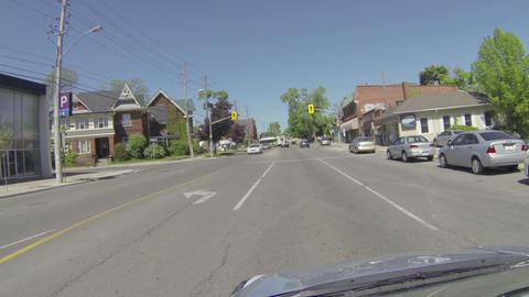 Camera car in Guelph, Ontario Footage