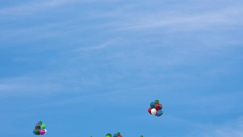 Ballon in the sky Stock Video Footage