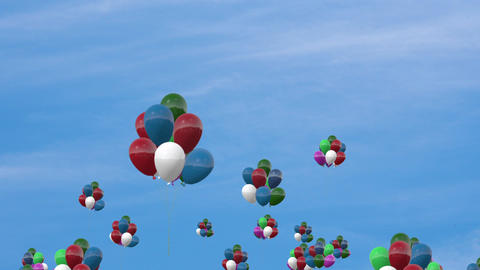 Ballon In The Sky stock footage