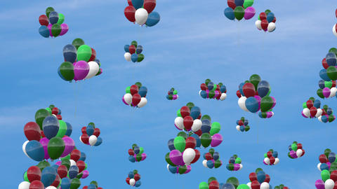 Ballon in the sky CG動画素材