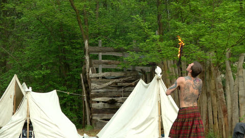 celtic fire show 01 Stock Video Footage