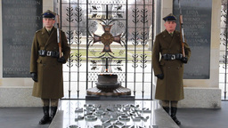 Warsaw. Soldiers at The Tomb of the Unknown Soldie Stock Video Footage