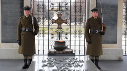 Warsaw. Soldiers At The Tomb Of The Unknown Soldie stock footage