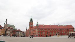 Warsaw. King Sigismund column and the Royal Castle Footage