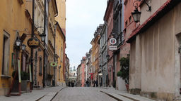 Warsaw, Poland. Narrow street in the old Town Stock Video Footage