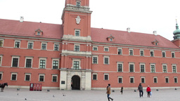 Warsaw, Poland. The Royal Palace in the Old Town Footage