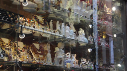 Souvenir shop in the old town in Warsaw, Poland Stock Video Footage