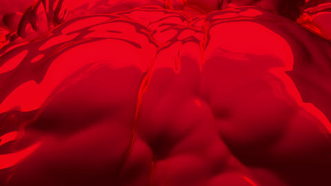 Red liquid substance. (loop-ready file) Animation