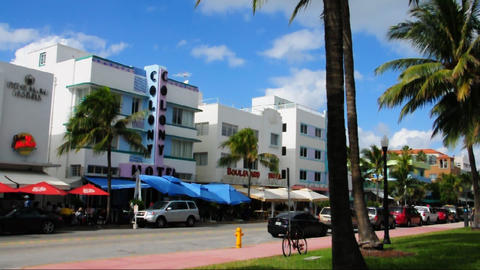 Colony Hotel on Ocean Drive, Miami Beach Stock Video Footage