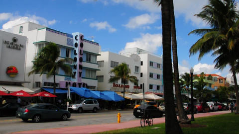 Colony Hotel On Ocean Drive, Miami Beach stock footage