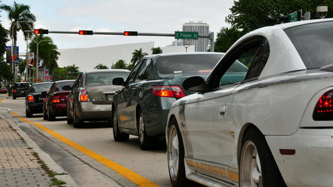 Traffic time lapse in Miami Stock Video Footage