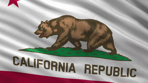 US state flag of California seamless loop Animation