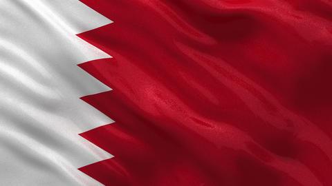 Flag of Bahrain seamless loop Stock Video Footage