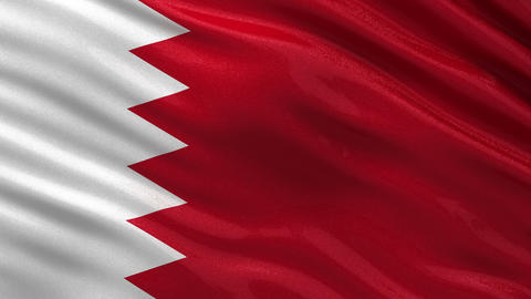 Flag of Bahrain seamless loop Animation