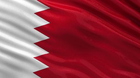 Flag of Bahrain seamless loop Animation