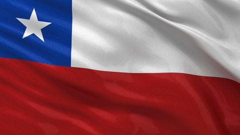 Flag of Chile seamless loop Stock Video Footage
